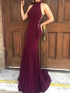 Trumpet/Mermaid High Neck Jersey Sweep Train Prom Dresses #Favs020105684