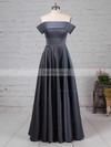 Princess Off-the-shoulder Satin Sweep Train Pockets Prom Dresses #Favs020105710