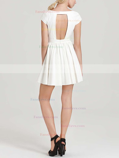 A-line Scoop Neck Chiffon Short/Mini Prom Dresses #Favs020101452