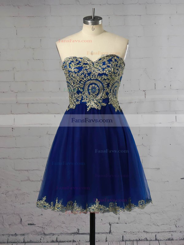 Inexpensive Sweetheart Organza with Beading Short/Mini Prom Dresses #Favs020102037