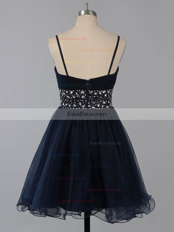 A-line Square Neckline Chiffon Short/Mini Beading Homecoming Dresses #Favs02014651