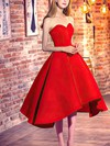 Princess Sweetheart Asymmetrical Satin Prom Dresses with Ruffle #Favs020103199