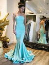 Trumpet/Mermaid Strapless Jersey Sweep Train Prom Dresses #Favs020104521