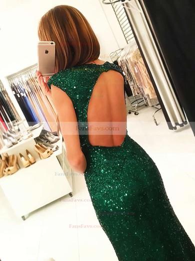 Sheath/Column Scoop Neck Sequined Floor-length Split Front Prom Dresses #Favs020102920