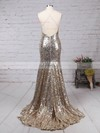 Trumpet/Mermaid V-neck Sequined Sweep Train Prom Dresses #Favs020103494