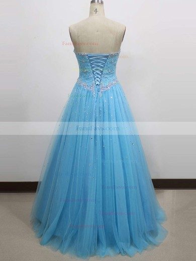 Ball Gown Sweetheart Floor-length Tulle Prom Dresses with Lace Beading #Favs020104337