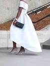 Princess Off-the-shoulder Satin Asymmetrical Prom Dresses #Favs020103627