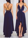 A-line V-neck Asymmetrical Chiffon Prom Dresses with Ruffle #Favs020103670